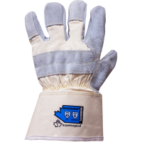 Leather palm safety glove with kevlar liner