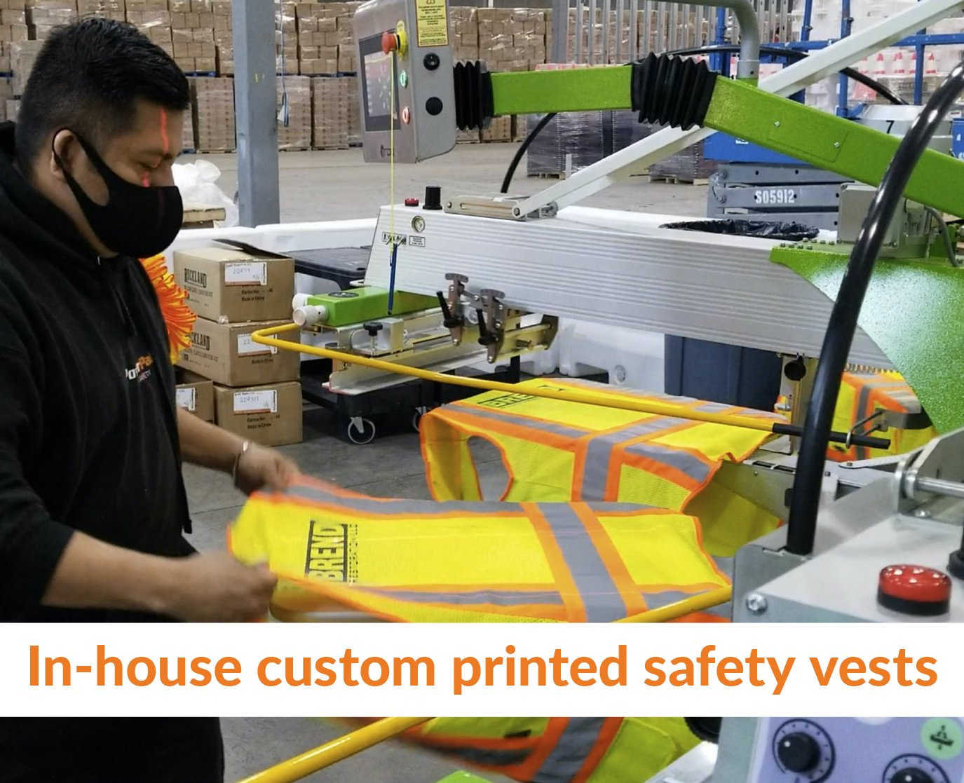In house custom printed safety vests